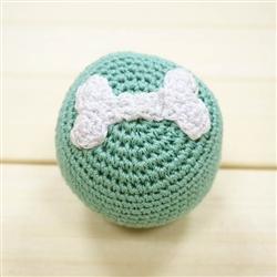 PAWer Squeaky Toy - Blue Bone Ball