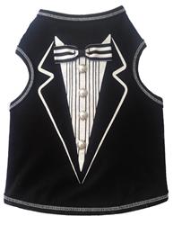 Tuxedo Print - Tank - Black/White