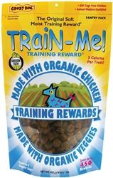Crazy Dog Organic Mini Train Me Treats 4oz