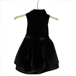 Black Stretch Velvet Dress by Daisy and Lucy