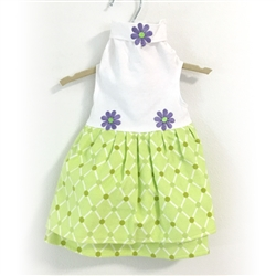 Green Flannel Warm Wrappers Dress by Daisy and Lucy