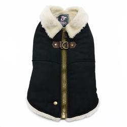 Furry Runner Coat Black