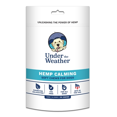 Hemp Calming Soft Chew for Dogs - 30 chews per pouch by Under the Weather