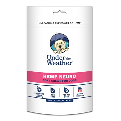 Hemp Neuro Soft Chew for Dogs - 30 chews per pouch by Under the Weather