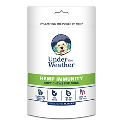 Hemp Immunity Soft Chew for Dogs - 30 chews per pouch by Under the Weather