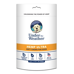 Hemp Ultra Soft Chew for Dogs - 30 chews per pouch by Under the Weather
