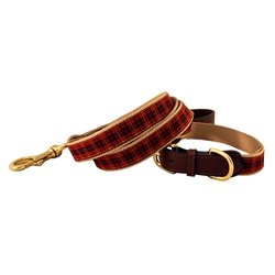 New Red Plaid American Traditions Collection Collars & Leashes