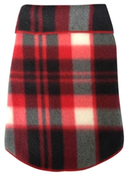 Black Red Plaid Fleece Pullover