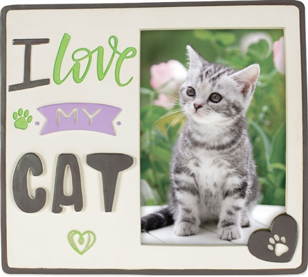 Pawsitive Photo Frame - I Love My Cat