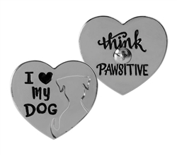 Pawsitive Lapel Pin - I Love My Dog