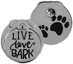 Pawsitive Lapel Pin - Live Love Bark