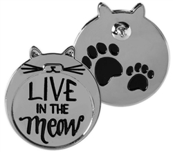 Pawsitive Lapel Pin - Live in the Meow