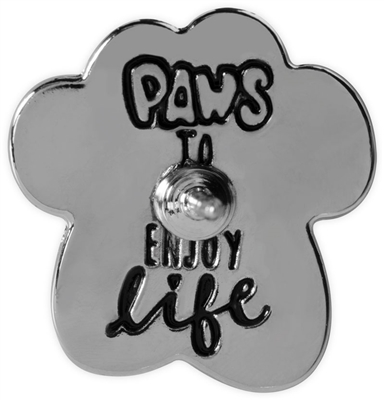 Pawsitive Lapel Pin - Paws To Enjoy Life