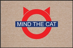 SALE - Mind the Cat Doormat