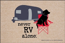 Never RV Alone Doormat