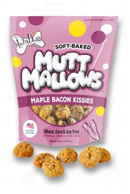 Mutt Mallows Maple Bacon Kisses 5 oz by Lazy Dog