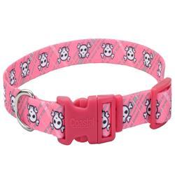 Pink Crossbones & Paws - Attire Styles Nylon Collars & Leads