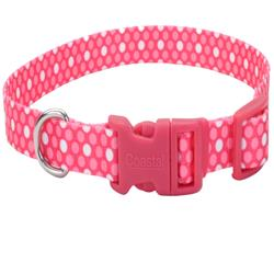 Pink Polka Dots - Attire Styles Nylon Collars & Leads