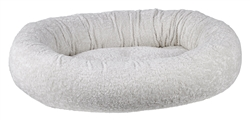 Donut Bed Ivory Sheepskin Faux Fur