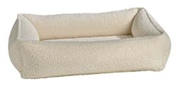 Urban Lounger Ivory Sheepskin Microvelvet