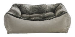 Scoop Bed Chinchilla Faux Fur