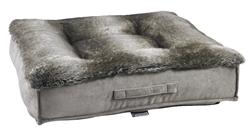 Piazza Bed Chinchilla Faux Fur