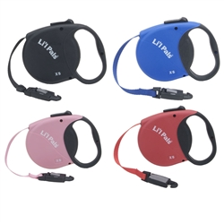 Li'l Pals 12' Mini Power EZ Snap Retractable Leash for Puppies and Petite Dogs