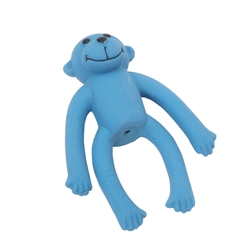 "Li'l Pals 4"" Latex Toy Blue Monkey"