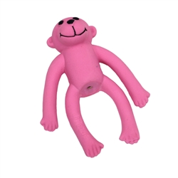 "Li'l Pals 4""Latex Toy Pink Monkey"