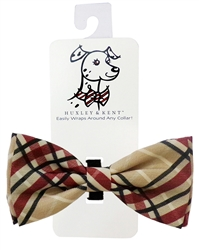 Huxley & Kent -Tan Plaid  Bow Tie