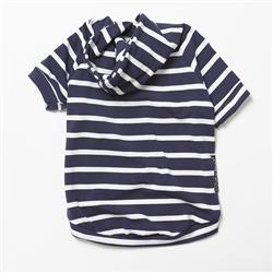 Lightweight Bamboo Knit Hoodie - Navy Stripe