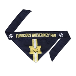 NCAA Michigan Wolverines Dog Bandana  - TIE ON