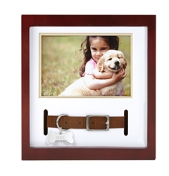 Pawprints™ Pet Collar Frame - Espresso