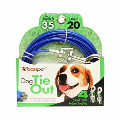 Boss Pet Medium Dog Tie-Out 20'