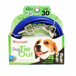 Boss Pet Medium Dog Tie-Out 30'