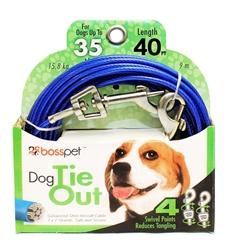 Boss Pet Medium Dog Tie-Out 40'