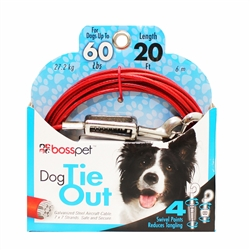 Boss Pet Large Dog Tie-Out 20'