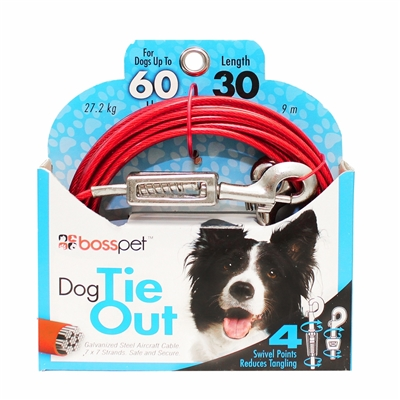 Boss Pet Large Dog Tie-Out 30'
