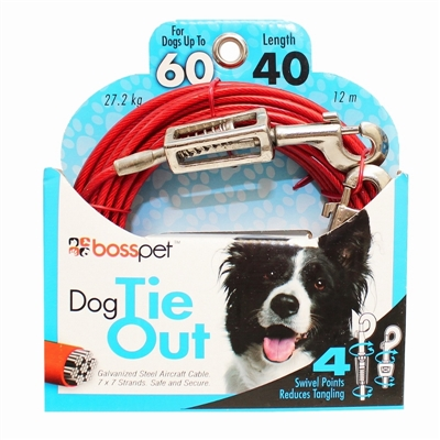 Boss Pet Large Dog Tie-Out 40'
