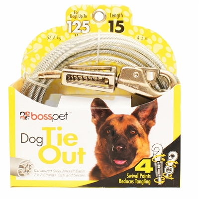 Boss Pet X Large Dog Tie-Out 15'