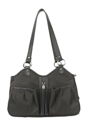 Metro Sable w/black leather trim & tassel