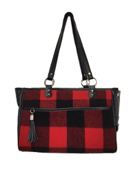 Tote in Red Buffalo Plaid