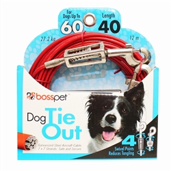 Boss Pet Large Dog Tie-Out w/ spring 40'