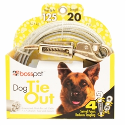 Boss Pet X Large Dog Tie-Out w/ spring 20'