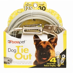 Boss Pet X Large Dog Tie-Out w/ spring 30'