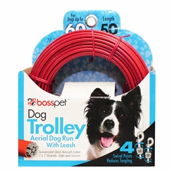 Boss Pet Dog Trolley System 50'