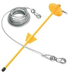 Boss Pet 30' X-Large Tie-Out/Dome Stake Combo