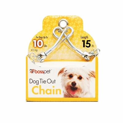 Boss Pet Small Dog Twist Chain w/ Swivel Snap 1.88mm x 15'