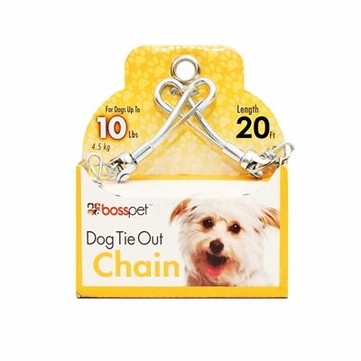 Boss Pet Small Dog Twist Chain w/ Swivel Snap 1.88mm x 20'