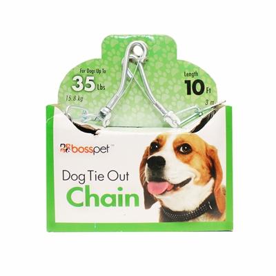 Boss Pet Medium Dog Twist Chain w/ Swivel Snap 2.5mm x 10'